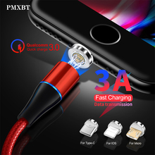 Magnetic Micro USB Cable For Samsung S10 S9 Type c Charging Charge For iPhone XS XR 8 7 6S Plus Magnet Charger USB Type C Cables accezz magnetic usb charging cable for iphone x xr xs max micro usb type c magnet charge for samsung s10 s9 fast charger cables