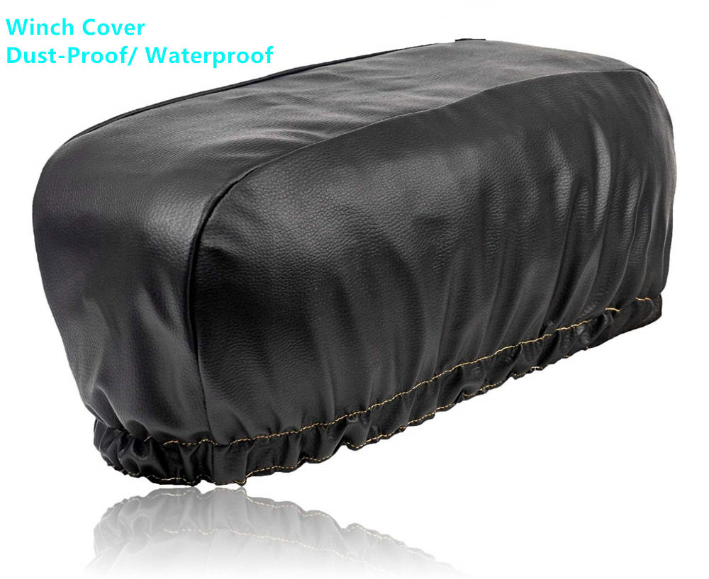 Waterproof Heavy Duty Trailer Winch Dust Cover 8000-17500lbs Protector Covers