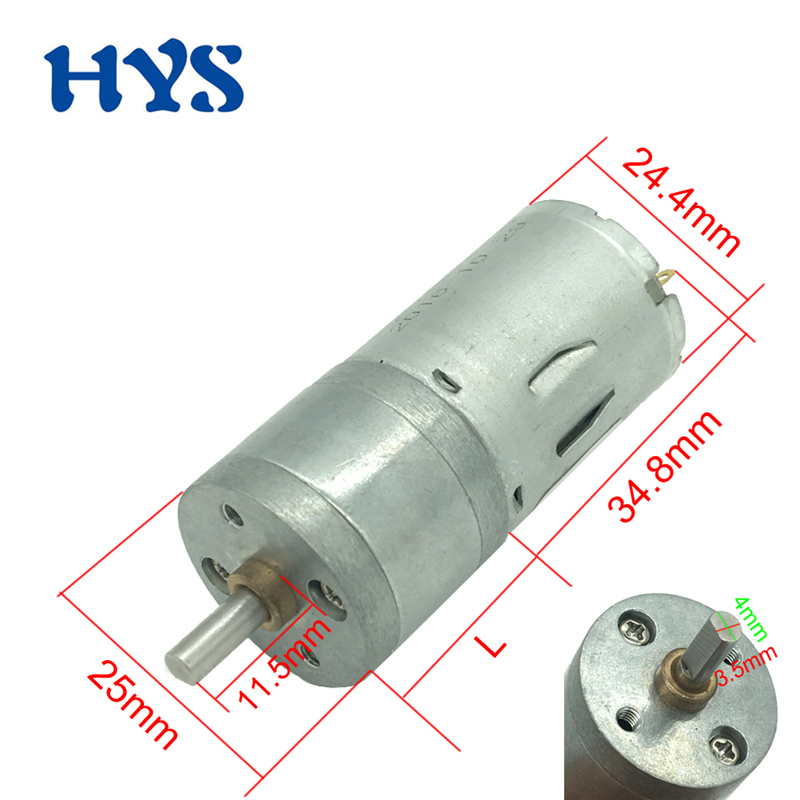 DC 6V 12V 24V Gear Motor Electric Mini Motors Speed Reducer 12 Volt V Metal Micro DC12V 12/22/250/400/915/1931rpm Motor GA25-370