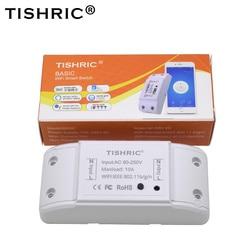 TISHRIC Basic Smart Wifi Switch Light Interruptor wifi 220V Alexa Compatible Google Home Intelligent Home Automation Modules