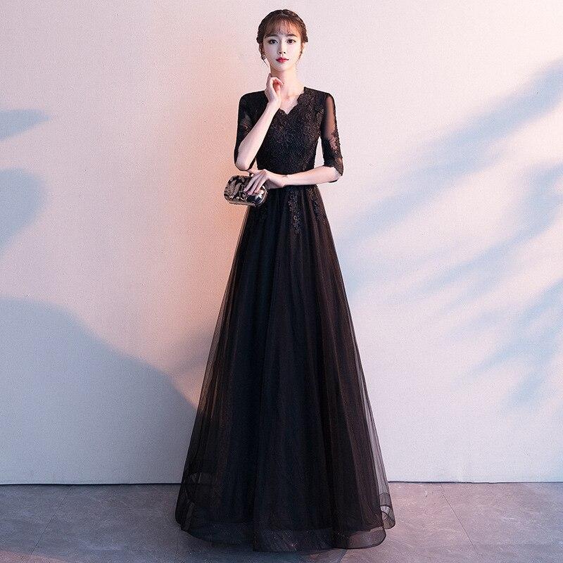 2020 Top Fashion Hot Sale Bridesmaid 2020 Fashion Party Dress Noble Long Small Formal Attire Skirt Socialite Show Thin Woman