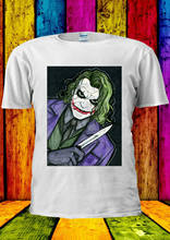 The Joker Heath Ledger Batman Knife T-shirt Vest Tank Top Men Women Unisex 2188(China)