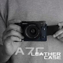 MrStone Sony A7C kamera çantası el yapımı hakiki deri kılıf aksesuarları