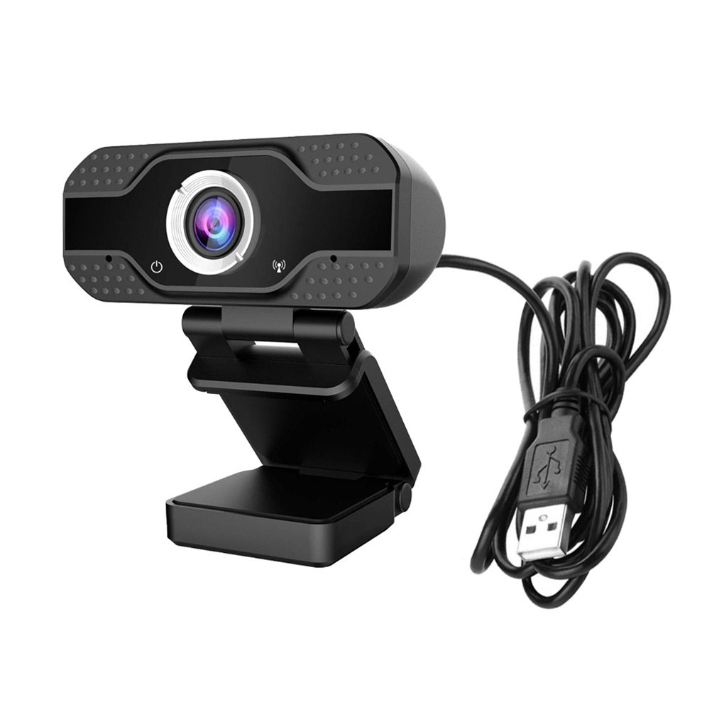 1080P HD Webcam with Microphone Adjustable Computer Camera 360 Degree Rotating Webcam for Teaching Online