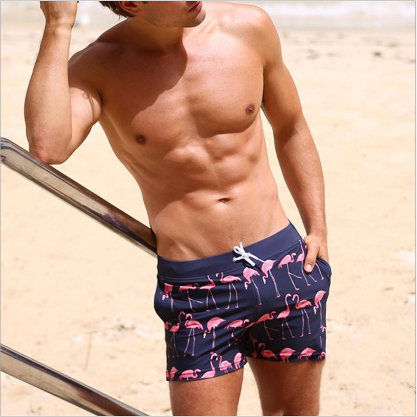 Reality And Ideals Chest Logo Mens Swim Trunks Board Shorts