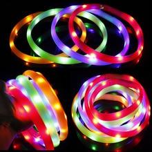 цена на USB Charging LED Pet Dog Collar Rechargeable LED Flashing Night Cat Dogs Collars Luminous Safety Anti-Lost/Avoid Car Collar