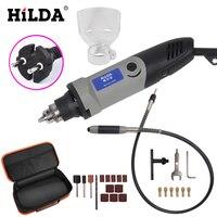 Hilda 400 w mini moedor de broca elétrica velocidade variável dremel estilo ferramenta rotativa mini broca com eixo flexível e acessórios mini grinder variable speed hilda 400w -