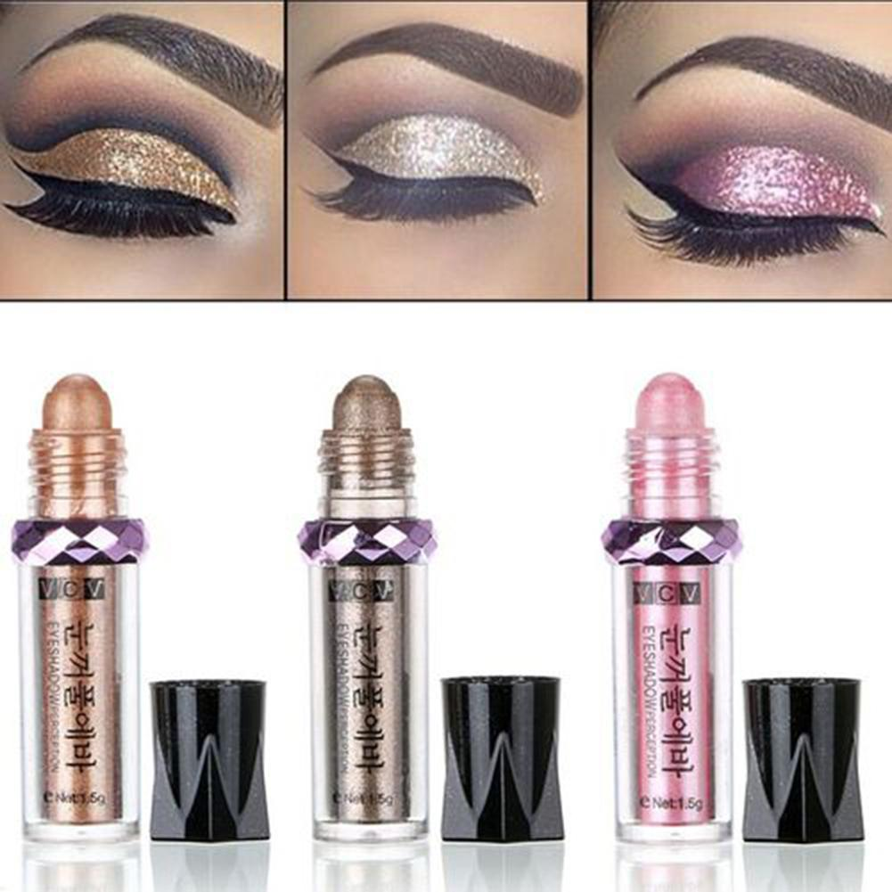 Women Makeup Glitter Long-lasting Waterproof Eyeshadow Rollers Pigment Loose Powder Eye Shadow Makeup Supplies(China)
