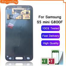 100 testowane robocza AMOLED wyświetlacz LCD ekran dotykowy zgromadzenie dla Samsung Galaxy S5 Mini G800 G800F G800H tanie tanio fix2sailing Pojemnościowy ekran 1280x720 3 LCD i ekran dotykowy Digitizer 100 One by one Tested Before shipping For S5 Mini G800 G800F G800H