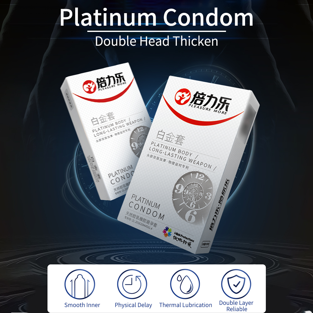 Delayed Ejaculation Condom 10 PCS  Platinum Penis Glans Thicken Delay Condoms For Men Long Last Penis Sleeve Sex Products