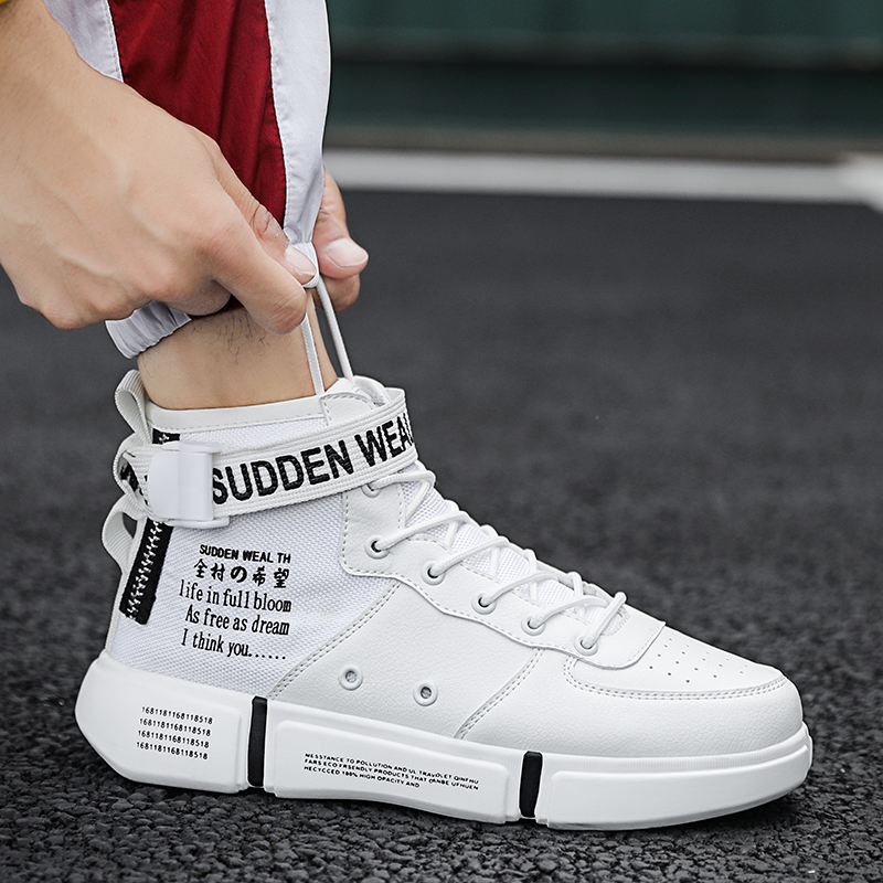 Brand High Top Canvas Shoes Men Skateboarding Shoes Casual Sneakers Black White Sports Shoes Airforce 1 Chaussure Homme Sport