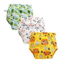 Милые детские тренировочные штаны, трусы, водонепроницаемые тканевые подгузники, многоразовые подгузники, подгузники, детское нижнее бель...