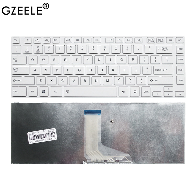 GZEELE New for <font><b>TOSHIBA</b></font> <font><b>L800</b></font> L805 L830 L835 L840 L845 L840D L845D L800D P840 P845 C800 C840 C845 Laptop Keyboard Frame White US image