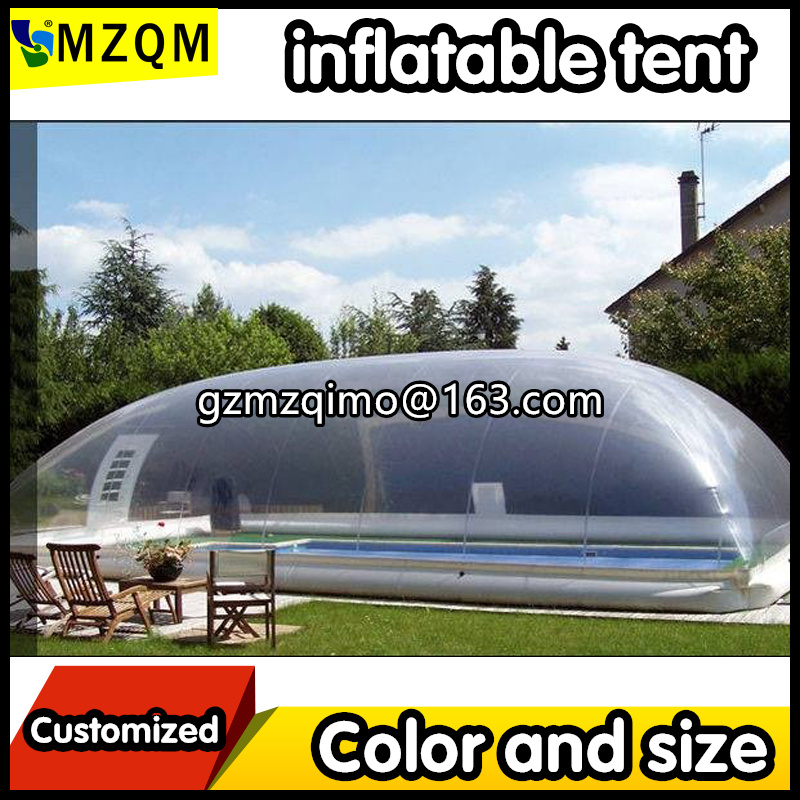 MZOutdoor Transparent Inflatable Pool Bubble Dome Air Clear Inflatable Pool Cover Ceiling For Children/family Swimming Pool