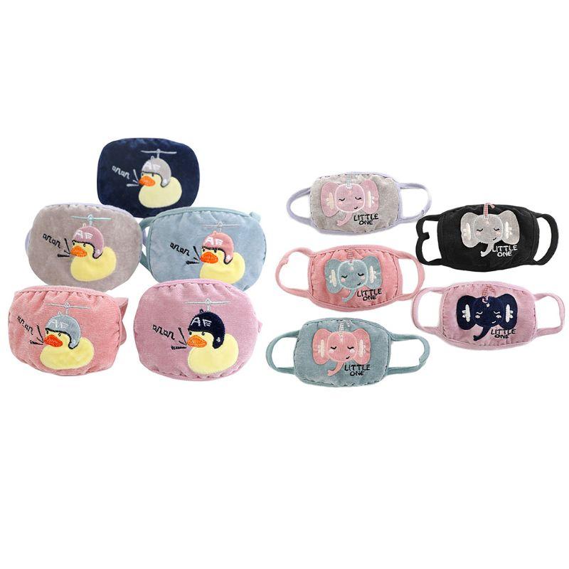 Kids Student Cute Cartoon Warm Mask Children Outdoor Dustproof Breathable Masks A69C