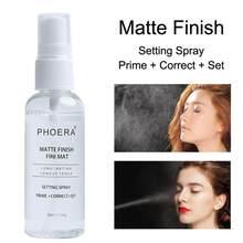 PHOERA макияж установка спрей 50 мл Матовая бутылка установка спрей контроль жирности натуральный длительный МАКИЯЖ Fix спрей для основы TSLM1