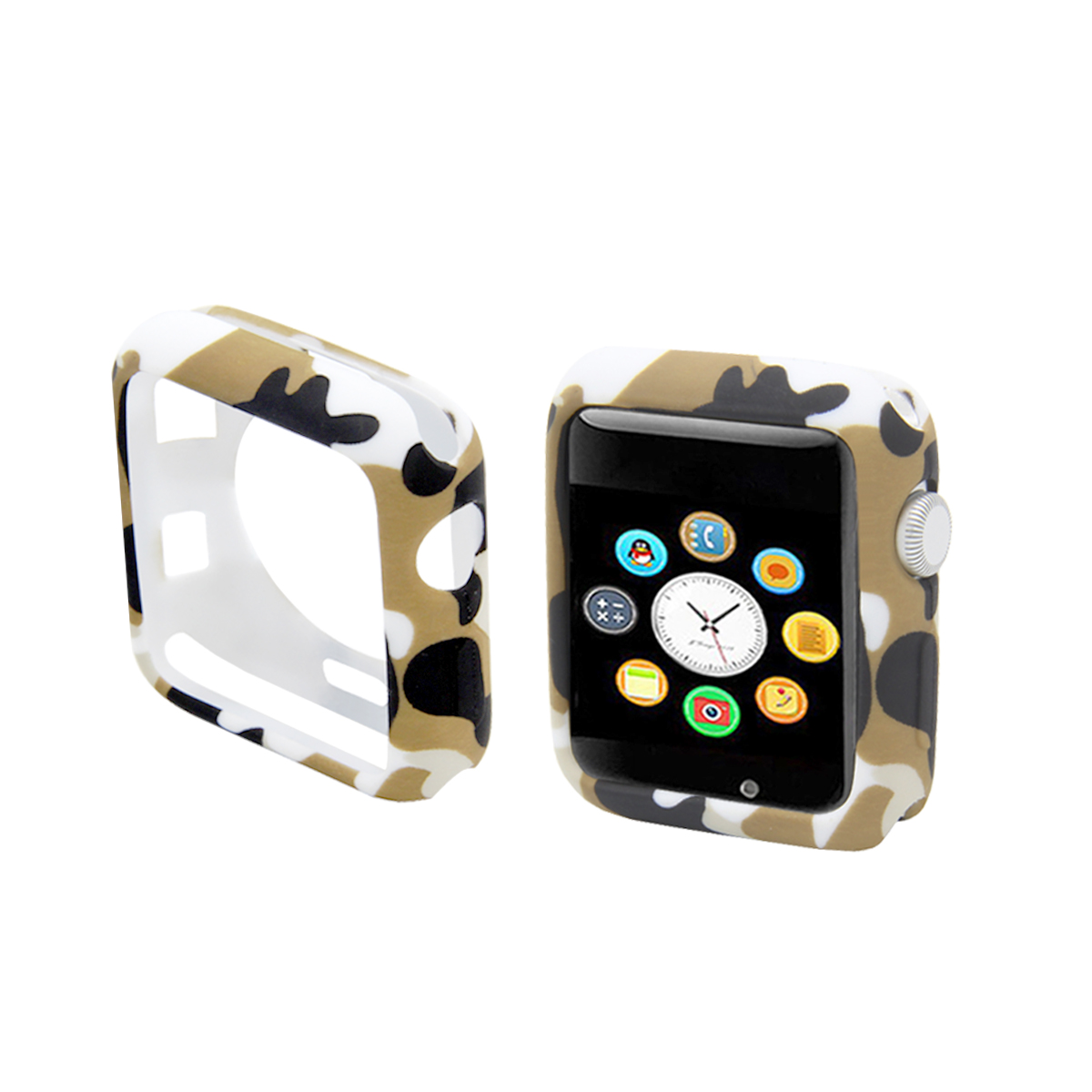 Camouflage watch case for apple watch protective cover 38mm protector apple watch 42mm for iwatch series 3 2 1 watch accessories in Watch Cases from Watches