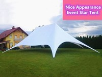 10 x 14m Twin Poles Star Marquee Shade Canopy Event Tent Trade Show Event Outdoor Party Wedding PVC Material Stretch Fly Tents