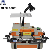 CHKJ DEFU 100E1 키를 만들기위한 수평 기계 더블 헤드 복제 자동차 키 절단 기계 자물쇠 공급 도구