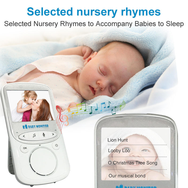 color 720 electronic  baby monitor wireless audio camera elektroniczna video vigilabebes connectee wifi videos surveillance