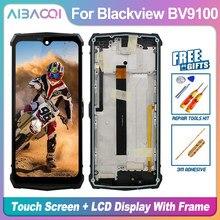 Новый оригинальный 6,3 дюймовый сенсорный экран + 2340x1080 ЖК-дисплей + рамка + кабель питания в сборе, замена для Blackview BV9100 Android 9,0