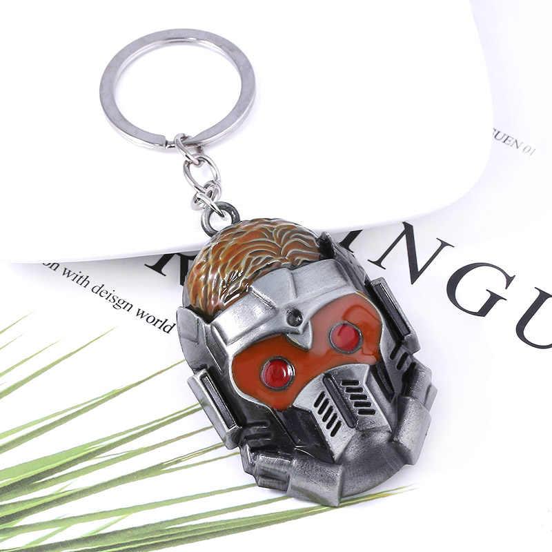 SG נוקמי שומרי Galaxy Keychain כוכב-אדון מסכת איור Keyring Drax פגיון נשק גברים llaveros סרט תכשיטים