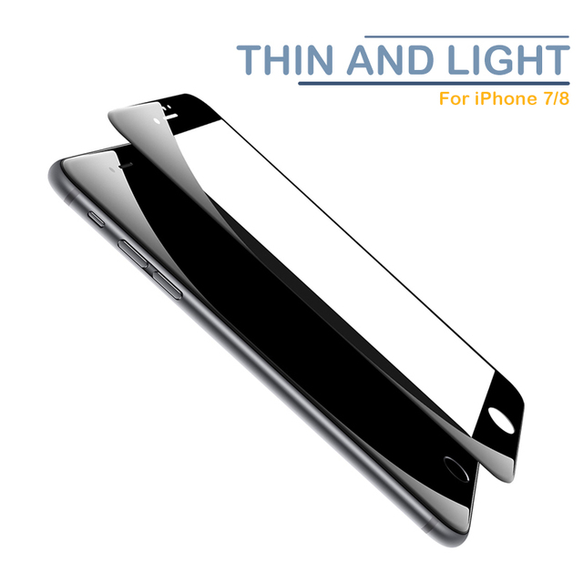 3PCS Curved Edge Protective Glass on For iPhone 7 8 6 6s Plus SE 2020 Tempered Glass Film on iPhone X XR XS Max Screen Protector 6