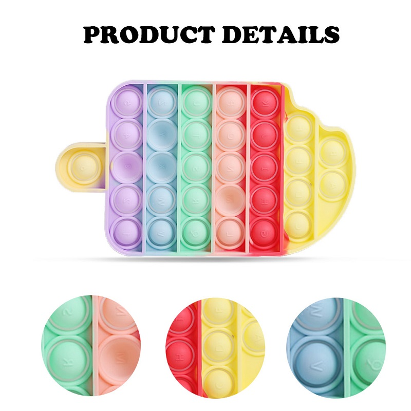 Silicone Toys Board-Game Ice-Cream-Shaped Fidget Squeeze Fun Push Bubble Adult Stress img4