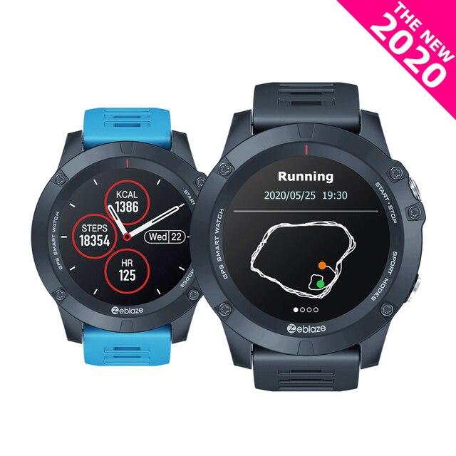 2020 inteligentne zegarki Zeblaze VIBE 3 GPS GLONASS Multisport GPS Smartwatch GREENCELL algorytm tętna 280mAh bateria Bluetooth