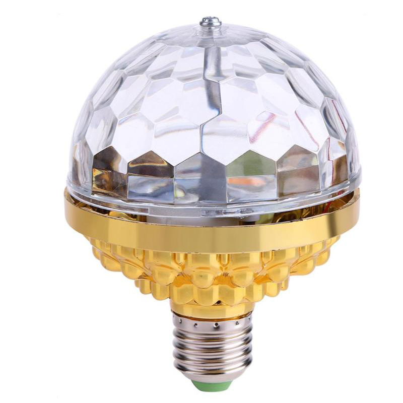 6W Rotating Crystal Magic Ball RGB LED Stage Light Bulb E27 Lamp For Disco Party DJ Christmas Effect