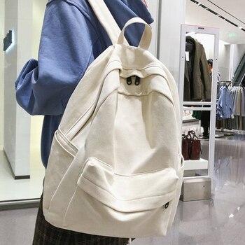 JOYPESSIE Fashion Female Bookbag Cotton Women Backpack for Teenagers Girl College Men Black School Bag Student Mochila - discount item  49% OFF Backpacks