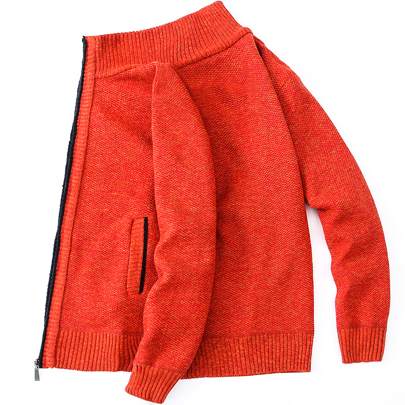 Cardigan Men Thick Warm Sweatercoat FashionSweater Cardigan Men Slim Fit Jumpers Knitred Winter Casual Sweater Mens Clothes 2