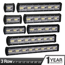LED Bar Work Light 12V 24V LED Light Bar 60W 480W LED Work Light for Car Tractor Boat OffRoad 4x4 Truck SUV ATV Driving Lamp