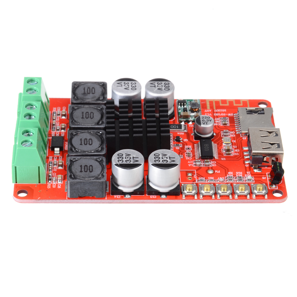 Image 2 - TPA3116 Stereo Speaker Amplifiers 2X50W bluetooth Audio Receiver Amplifier TF Card Decoder With Remote Control-in Amplifier from Consumer Electronics