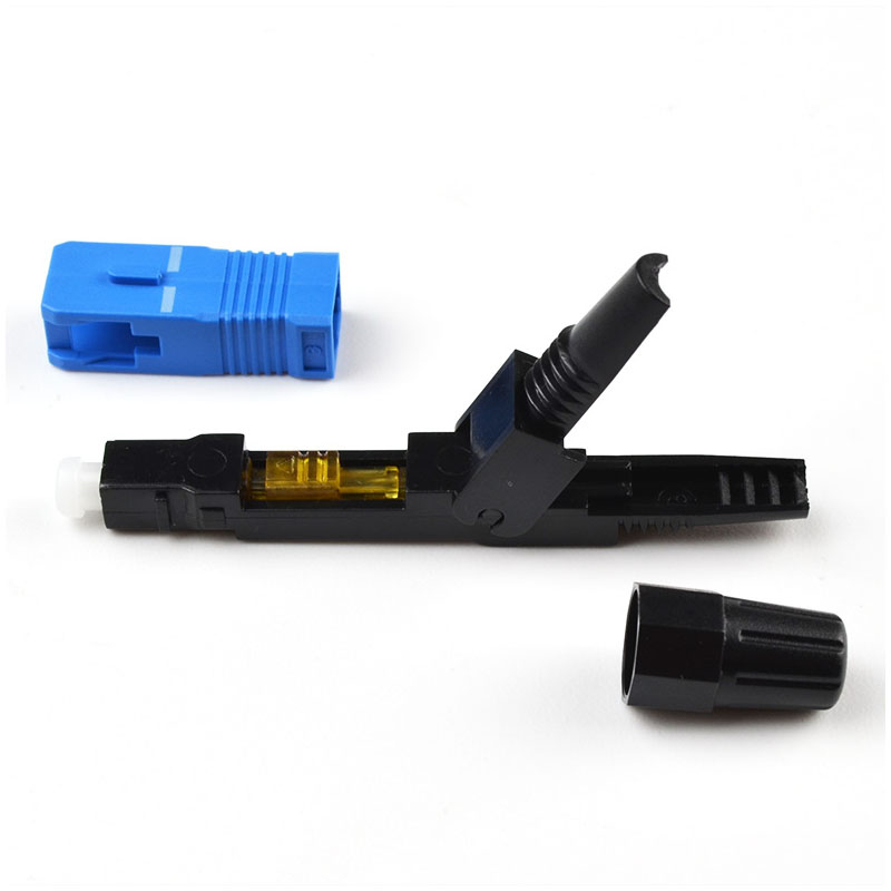 SC UPC Fiber Optic Fast Connector  Opical SM Field Assembly Fiber Optic SC Quick Connector Ftth ToolSC PC Field Assembly