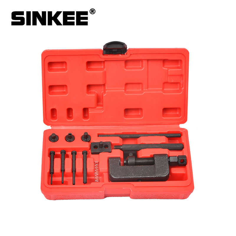 13pcs Motorcycle Bicycle Chain Cutter Rivet Tool Set Time Chain Detacher Tool