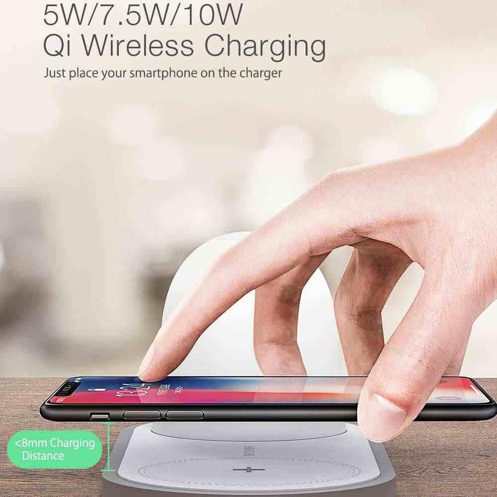[QI Charge] BlitzWolf BW-LT26 10 واط تشى شاحن لاسلكي نوع-C شحن المغناطيسي انفصال مصباح مع 2700k-5000k LED ضوء الليل