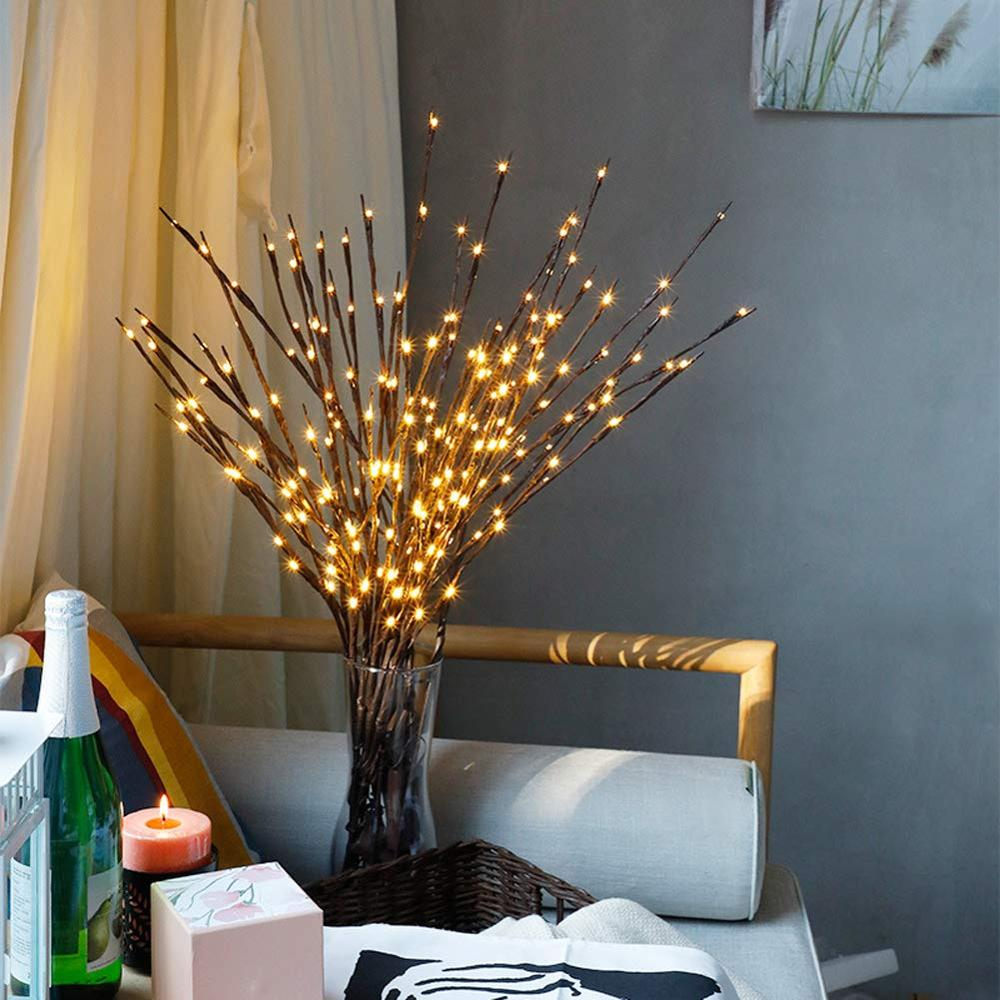 70cm 20 Led Branches Battery Powered Decorative Lights Tall Vase Filler Willow Twig Lighted Branch For Home Party Decoration