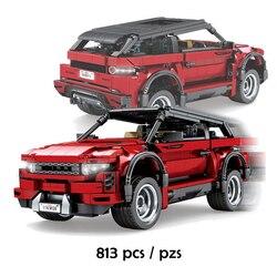 SEMBO 813pcs SUV Car Red Sports Vehicle Building Blocks Creator Racing Car Expert Bricks Set Kids DIY Toys Children Gift