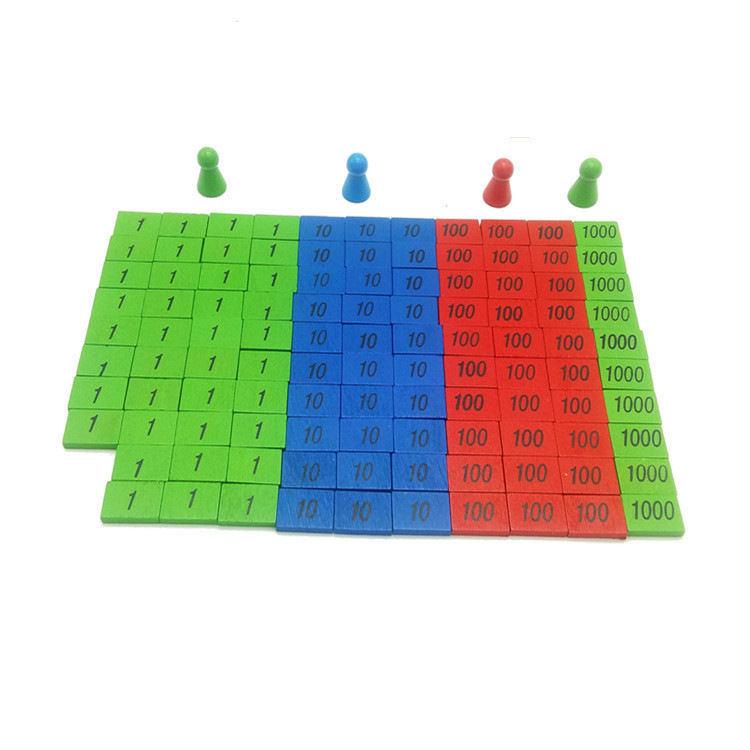 Montessori Early Childhood Educational Wooden Toys Montessori Infants Home Edition Stamp Game Mathematics With Numbers Teaching