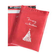 50pcs Mail Express Bags Poly Envelope Christmas Series Pattern Packing Clothing Bag Mailer Postal Shipping Bags 10*13 inch