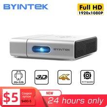 BYINTEK U50 Full HD 1080P Mini 2K 3D 4K Android inteligentne Wifi przenośne urządzenie laserowe domu film LED projektor DLP Beamer Proyector