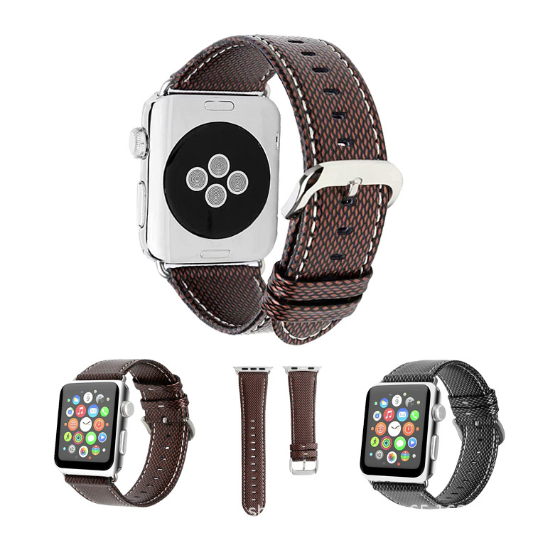 Suitable For APPLE Watch Strap APPLE Watchpu Leather Watch Strap New Style Diamond Pattern Leather Watch Strap