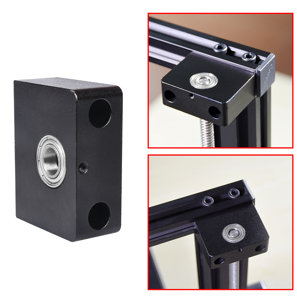 3D Printer Parts Aluminum Z-Axis Leadscrew Top Mount T8 Fixing Bracket Z-Rod Bearing Holder For Ender 3 Ender 3 PRO/CR10