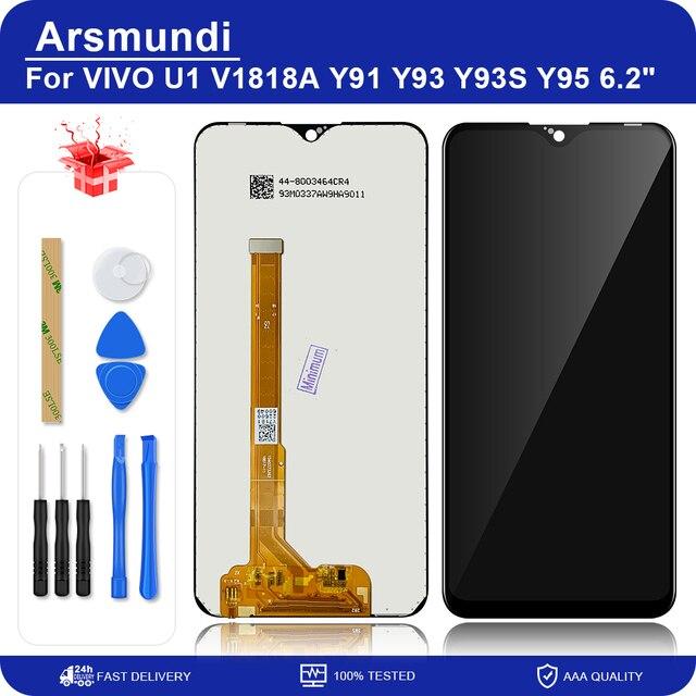 """6.2 """"para vivo y91 y91i y91c/y93 1815/y95 1807 lcd screen display toque digitador assembléia peças de reposição + presentes"""