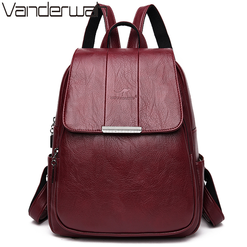 Sac A Dos Femme Hot Women Backpack Female High Quality Leather Bagpack For Women Fashion School Bags Backpacks Bolsa Feminina