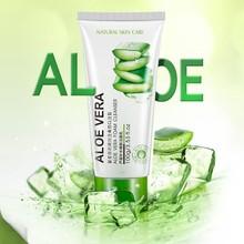 Aloe Vera Cleansing Gel Foam Hydrating Whitening Oil Control Facial Cleanser Foam