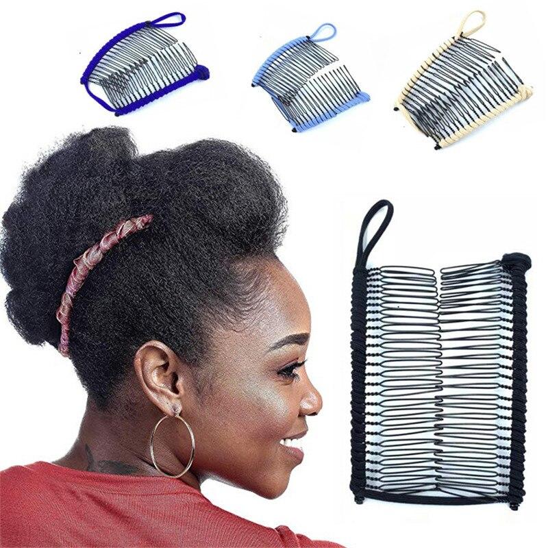 Women Banana Hair Pins Lazy Hair Comb Stretchable Hair Accessories Professional Hair Clip For Women Insert Comb Magic Hair Grips