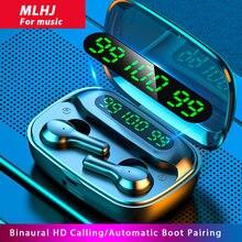 Беспроводные наушники с микрофоном mlhj bluetooth v50 спортивные