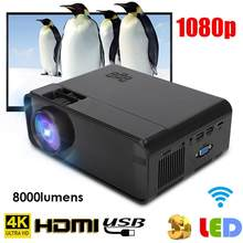 Multimedia home theater UHD 4K WiFi Bluetooth 3D HD 1080P LED Projetor Mini Projetor HDMI TV cinema 480p para a Versão Android(China)